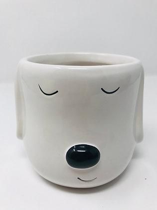 Dog Face Pot