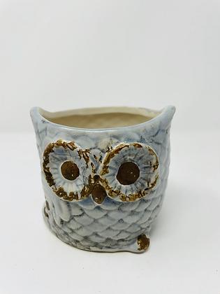 Owl ceramic pot - 003