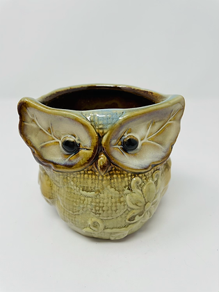 Owl ceramic pot - 001
