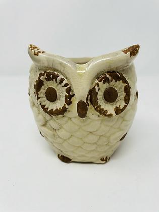 Owl ceramic pot - 004
