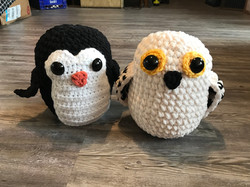 Plushies - Penguin and Owl