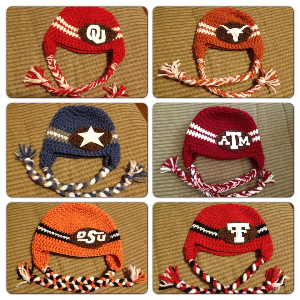 Crochet Team Hats