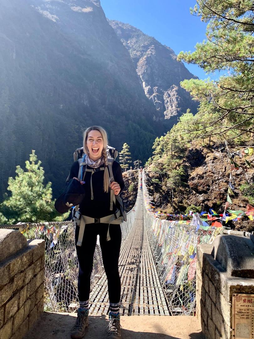 Hilary suspension bridge