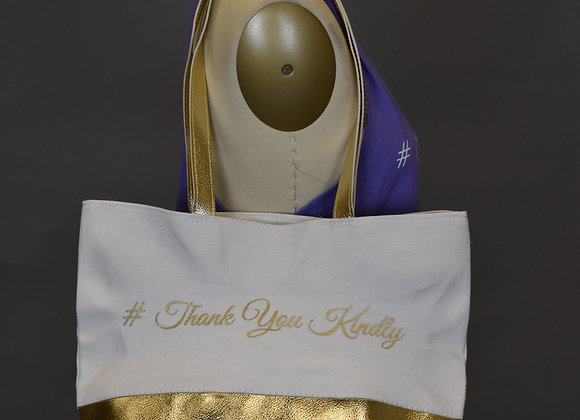 Thank You Kindly Gold Tote