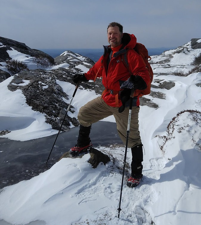 Michael Meyer in his Columbia hardshell coat