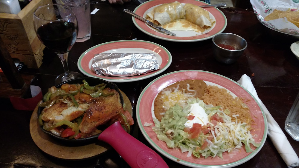 plates of Mexican food