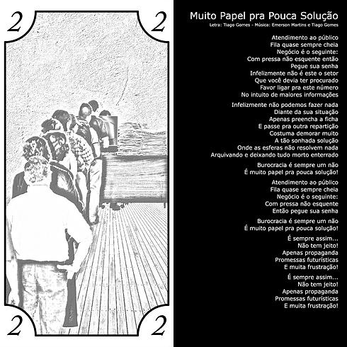 Letra da Música Muito Papel pra Pouca Solução da banda Barril de Pólvora