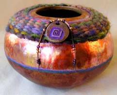 SHARON JUNGCLAUS GOULD  :  Gourd Art + Mixed Media