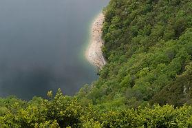 baignade, voile et canoé, lac de Vouglans