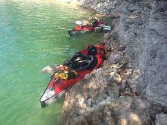Kayak sur la lac de Vouglans