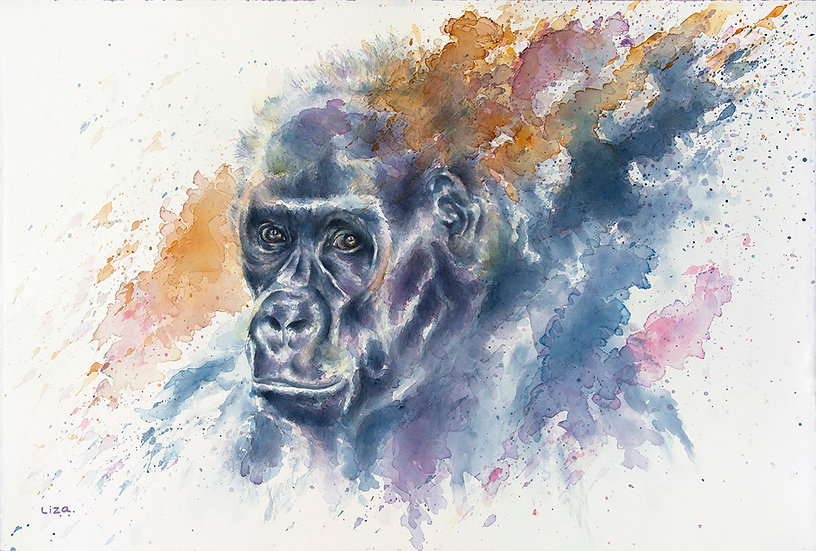 Flames of passion - female gorilla