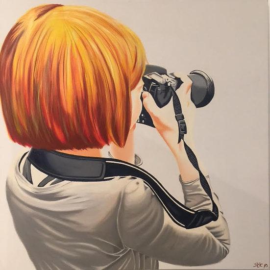 Photographer in gray