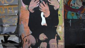 אמנות רחוב על קצה המזלג...