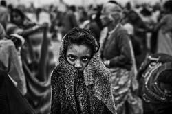 Hindu-girl-dry-after-a-holy-dip-at-S