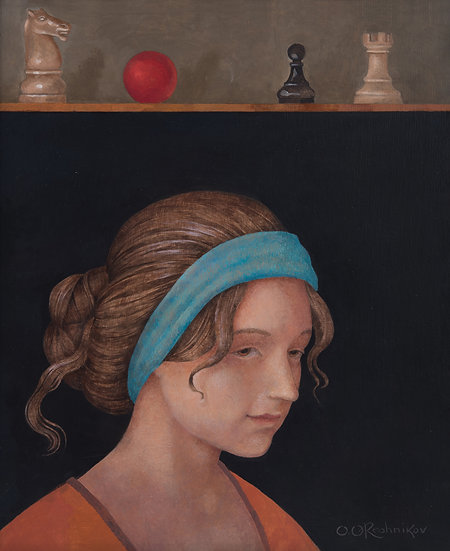 A girl with chess