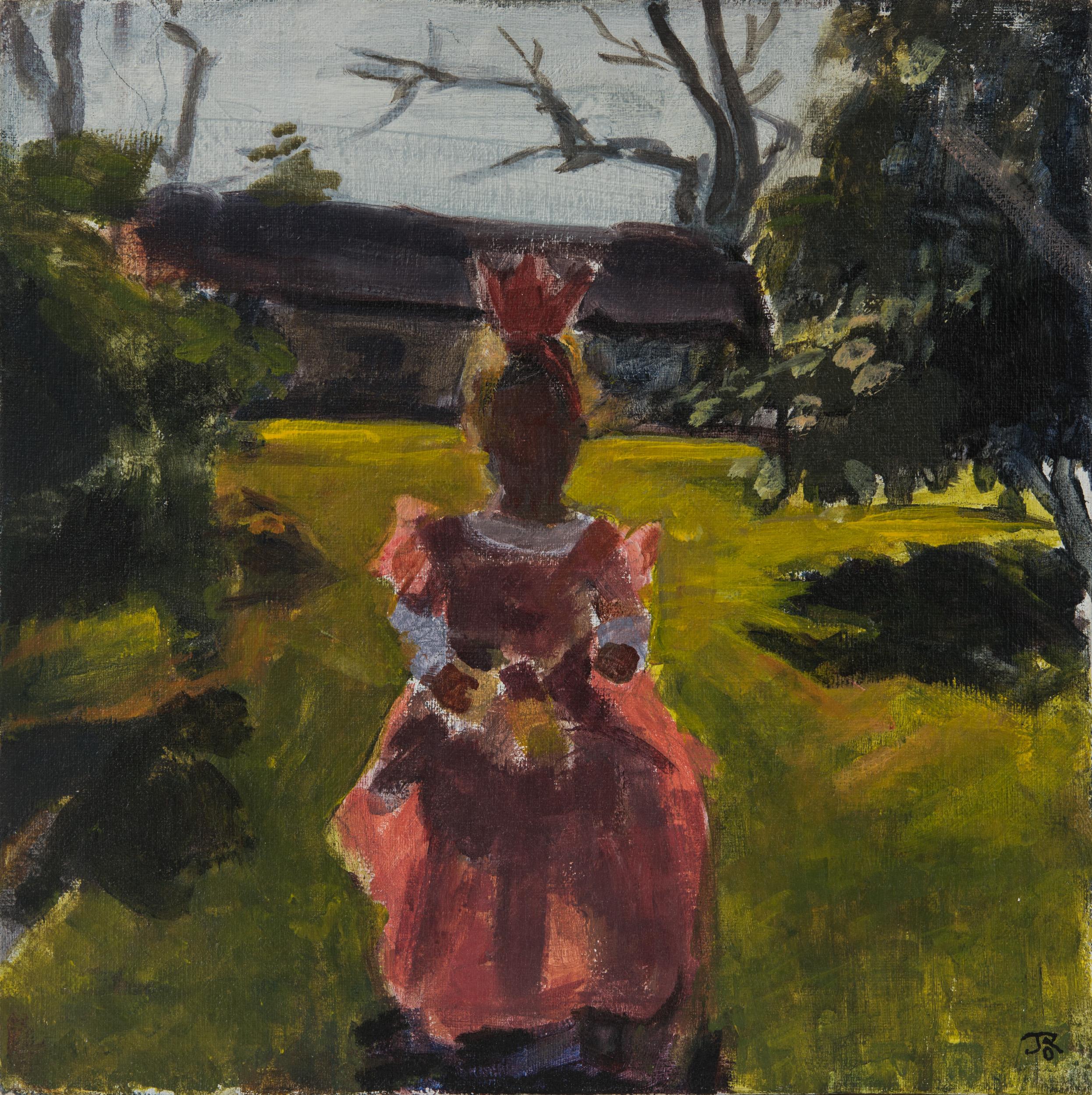 Pink  Dress on the Grass_2018