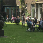 Guests relax in the beautiful grounds of the Royal Foundatin of St Katharine.