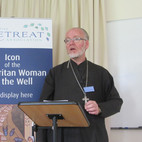 Fr Stephen Platt spoke in depth about the significance of the Samaritan Woman at the Well Story to the icon tradition.