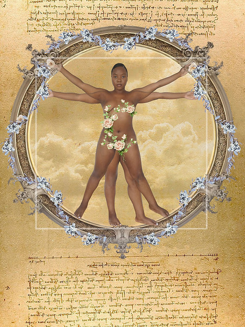 """The Bloom of Vitruvian Woman"" print"
