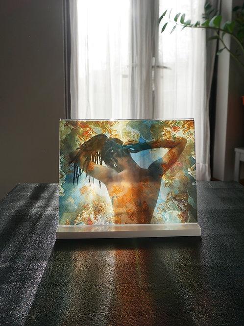 """Mother Nature"" White frame"