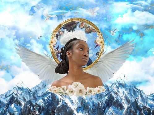 """Ebony Aphrodite with the grace of God"" print"