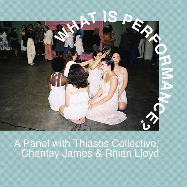 Gwak performance art panel discussion