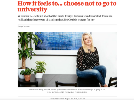 """A full time academic degree is not the only way to succeed"""