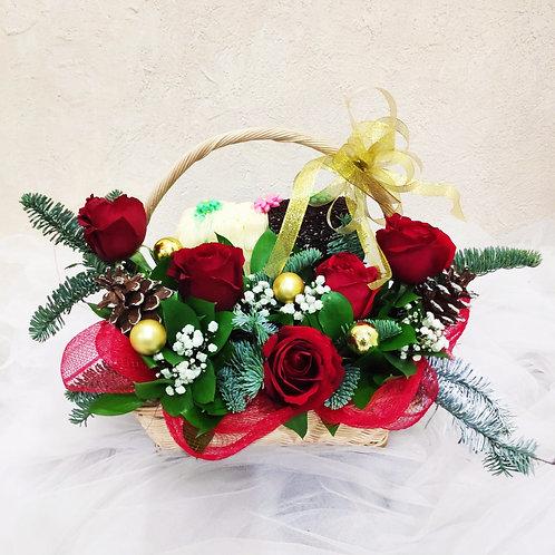 Christmas Flowers & Cake CK 2001