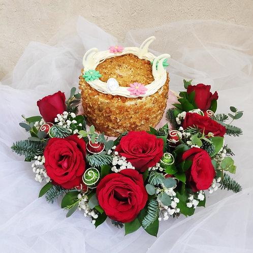 Christmas Flowers & Cake CK 2002