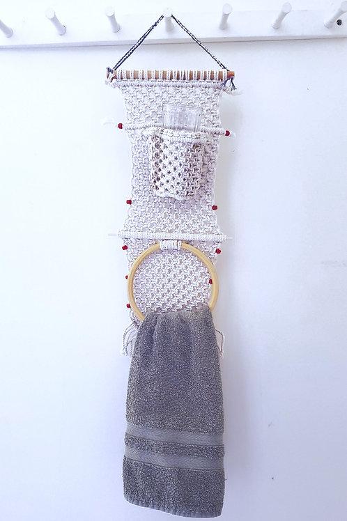 Bathroom Towel & Cup Holder