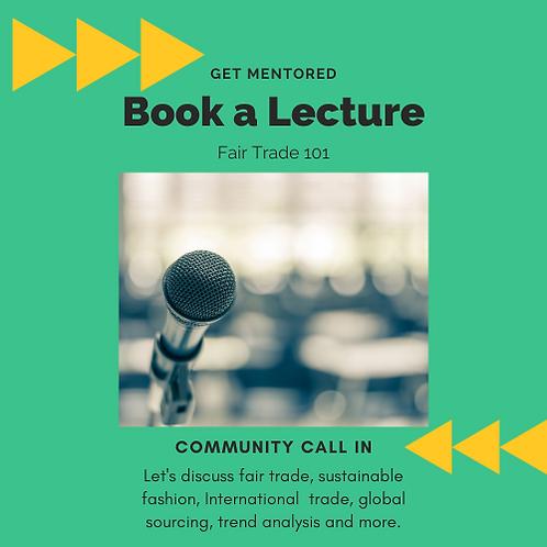 Book a Lecture