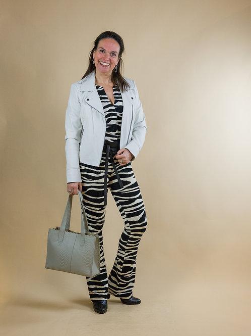 zebra print broek