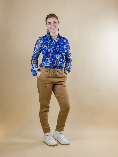 blouse mesh print