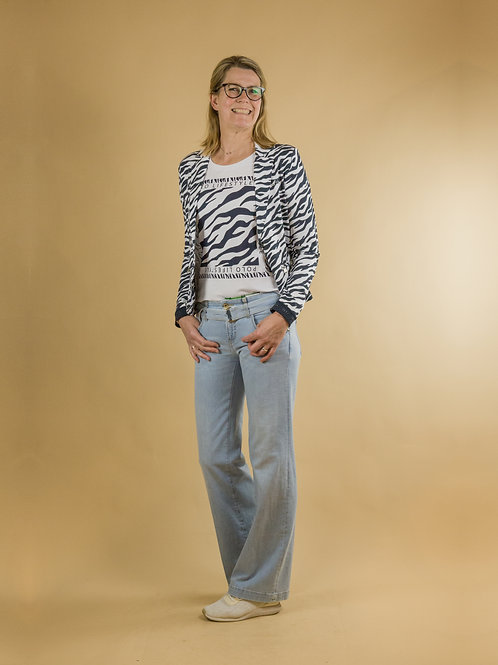 blazer zebra print