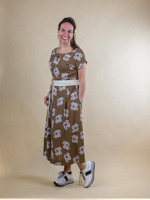 lange jurk  bloem print