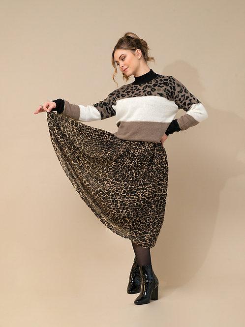 jurk animal plisse
