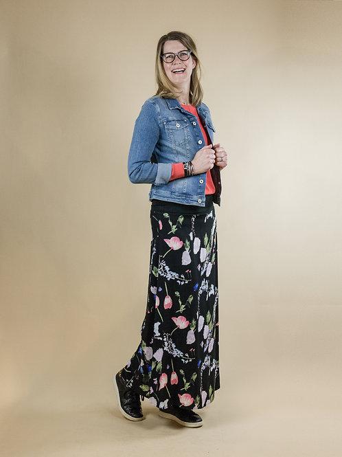 lange rok bloem print