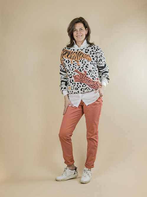 pullover tijger print