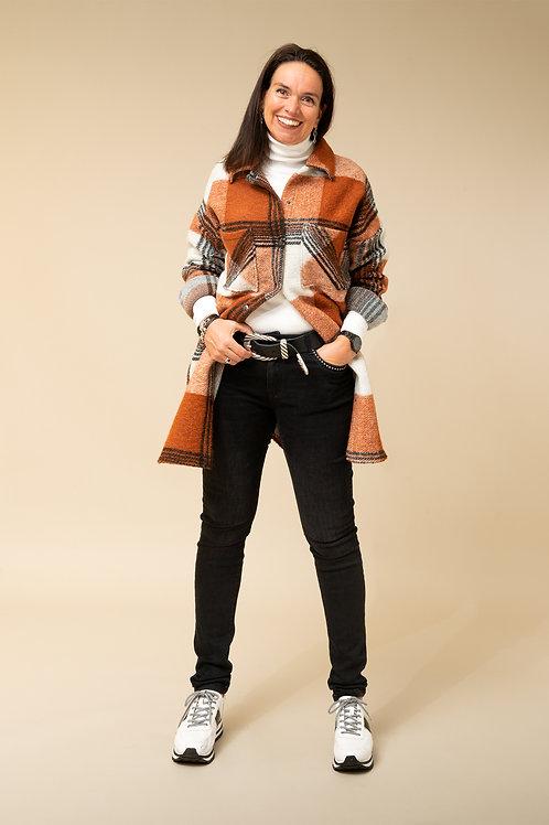 Houthakkers blouse-jas  is uitverkocht