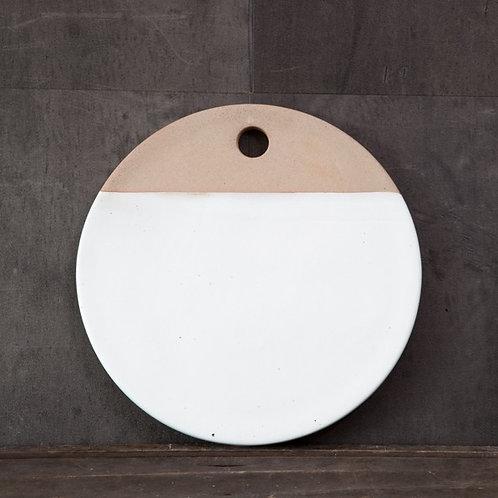 Dipped White Ceramic Chopping Board