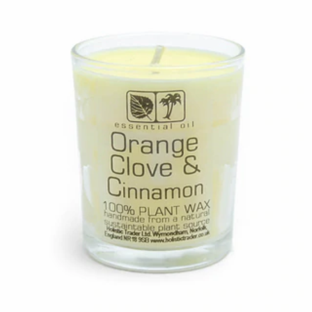 Orange Clove & Cinnamon Aromatherapy Candle