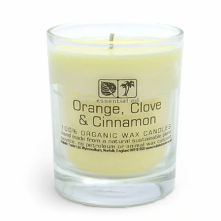 Large Orange Clove & Cinnamon Aromatherapy Candle