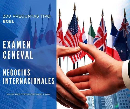 EXAMEN CENEVAL EGEL NEGOCIOS INTERNACIONALES