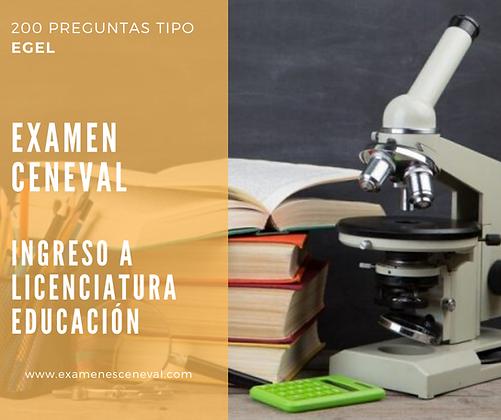 EXAMEN DE INGRESO LICENCIATURA EN EDUCACIÓN