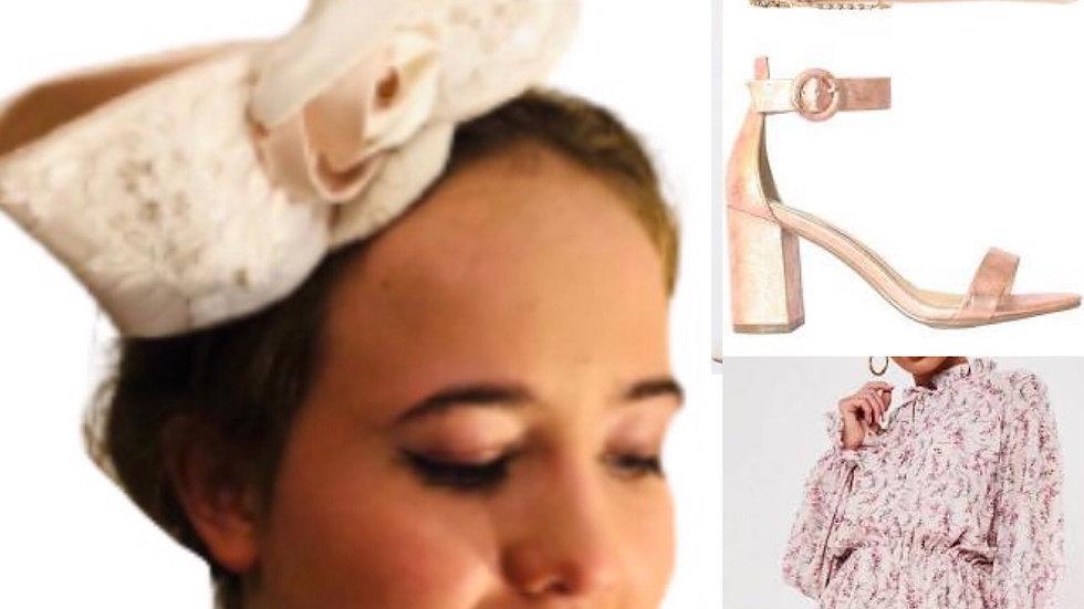Ivory Bow Wedding Fascinator
