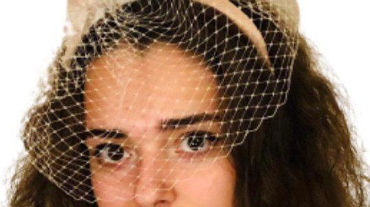 Ivory Bow Birdcage Wedding Fascinator