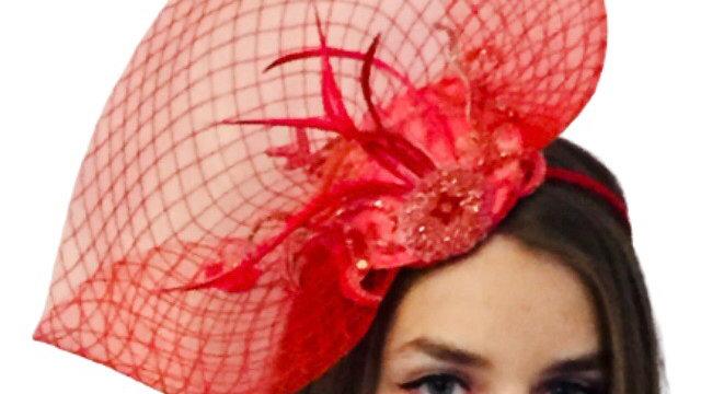 Red wedding Hat