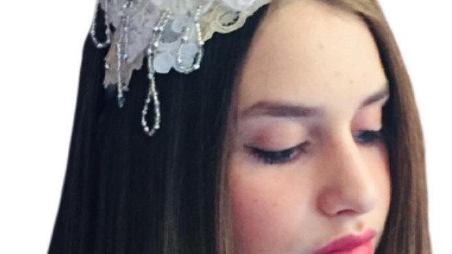 Ivory lace Wedding  Headband