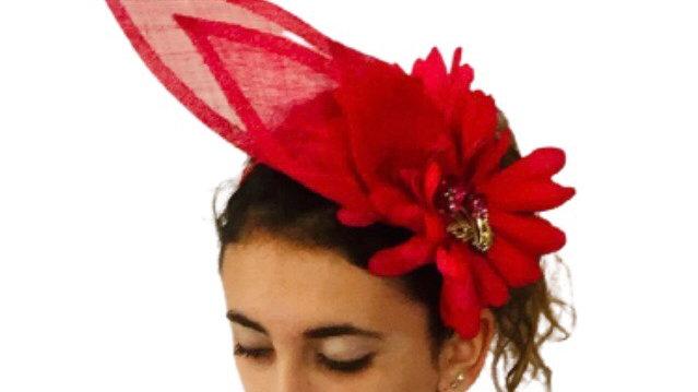 Pink/red Flower Wedding Fascinator