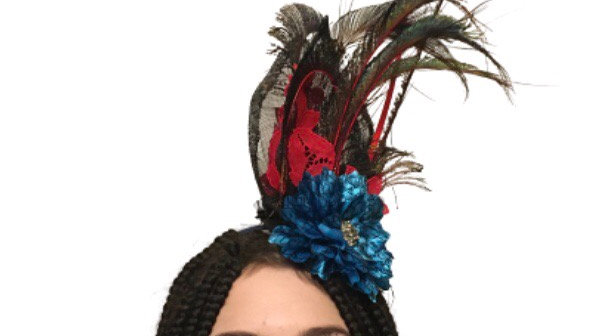 Peacock Feathers Wedding hat